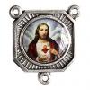 Medal with 3 Loops Sacred Heart Of Jesus N/f Rhodium